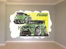 Huge Koolart Cartoon Ford Focus Rs Wall Sticker Poster Mural 2588