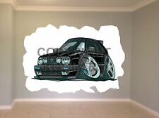 Huge Koolart Cartoon Vw Golf Mk2 Wall Sticker Poster Mural 2448