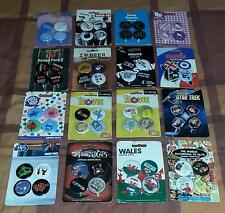 Collectable Badges. Ideal party bag fillers. Adult or Children