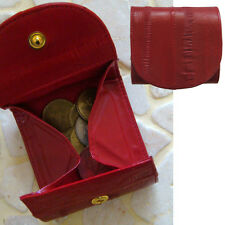 Genuine Eel Skin Leather Mini Coin Purse Small Square Wallet