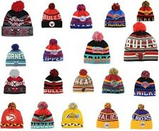 Mitchell & Ness Authentic Knit Cuffed NBA Basketball Skully Beanie Pom Hat Cap
