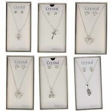 51715- Ladies Silver Plated Earring&Necklace Sets- Great Price!