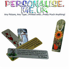 Personalised Gift Bookmarks Aluminium - any picture, type, mothers day, wedding