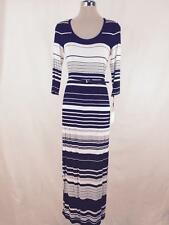 Calvin Klein NWT Black/White Belted  Striped Maxi Summer Dress