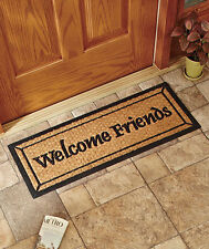 "36"" Rubber-Backed Coir Coco Welcome Friends Sweet Home Door Runner Mat Decor"