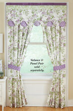 Collections Etc French Star Lavender Window Drapes