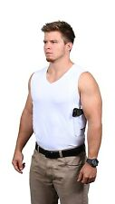 CONCEALMENT V-NECK PACKIN' TEE HOLSTER White CONCEALED CARRY HOLSTER SHIRT