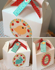 Personalised Childrens Easter Egg Gift Party Bag Box Activity CHICK BUNNY EGG
