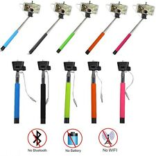 Wired Extendable Handheld Selfie Stick Monopod For iPhone 6 /Samsung Shutter