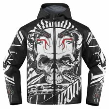 Icon Mens Merc Vitriol Armored Hooded Softshell Motorcycle Riding Jacket 2015