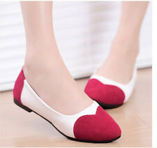 Han edition fashion leisure love shallow mouth sweet lady flat shoes 3color