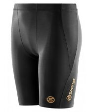 * NEW * Skins Compression A400 Youth Half Tights (Black) + FREE AUS DELIVERY