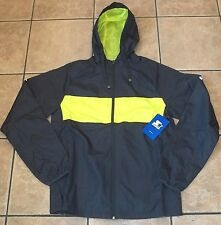Mens STARTER Gray WINDBREAKER JACKET~Small Large~NWT~Hooded Rain Coat~Track NEW