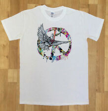 Mens Dove T Shirt Military CND Peace logo Retro and hippy - Antiwar Peace Signs