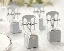Wedding Favour Boxes Place Card Holders Miniature Chairs  Gold, Silver or White
