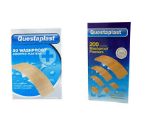 200 x 50x Pack Waterproof Plasters Assorted sizes Water Resistant First Aid