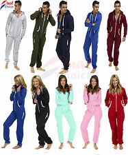 Mens Ladies kids unisex Onesie Plain Pyjama Pajamas Sleepwear hoodie track suite