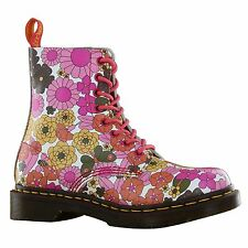 Dr.Martens Pascal Vintage Daisy Pink Womens Boots - 13512650 - S