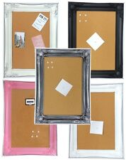 New Stylish Shabby Chic Large Cork Pin Memo Notice Board Pinboard