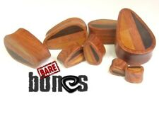 "Bare Bones Pair of Organic Dark Raintree Wood Plugs 2G to 1"" [Select Your Size]"