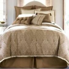 JCPenney home CHANTILLY 4 Piece Comforter Set Gold/Ivory Retail $285
