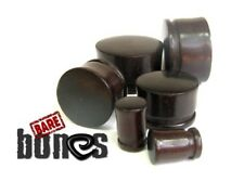 "Bare Bones Dark Raintree Wood Single Flare Plugs 8G to 1"" [Select Your Size]"