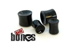 """Bare Bones Pair of Organic Horn Concave Plugs 8G to 5/8"""" [Select Your Size]"""