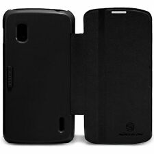 Nillkin Fresh Series Leather PolyCarbonate Flip Stand Case Google Nexus 4 Black