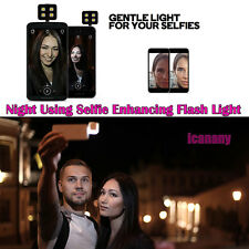Portable Mini 4LEDs Powerful Selfie Flash Fill Light For Smartphone IOS Android