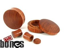 "Bare Bones Pair of Blood Wood Stash Plugs 4G to 1 1/2"" [Select Your Size]"