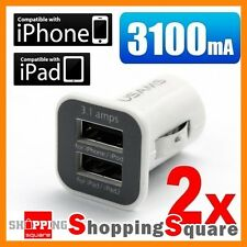 3.1A Dual USB Car Charger Mini for Apple iPhone 6 7 8 Plus 4 5S 5 iPad USB Cable