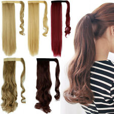 Clearance Sale Lady Wrap Around Ponytail Hair Extensions Curly Straight Hair 312