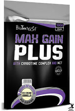 BioTech USA Max Gain Plus GAINER WITH CARBOTIME COMPLEX MCT HIGH BCAA GLUTAMINE