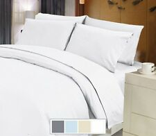 SOFT WHITE SOLID 100%COTTON ALL BEDDING ITEM FOR UK LOW SHIPING
