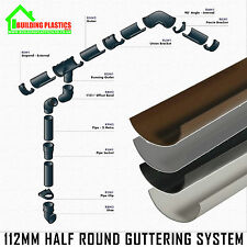 Half Round Guttering - Downpipes - Fittings. Freeflow 112mm Half Round Gutter