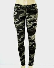626 DENIM Women's Army Camouflage Pants Fitted Straight Skinny Jeans Size 1 - 15
