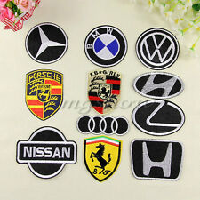 Embroidered Sew Or Iron on patch Biker Racing Motor Car Logo Sports Automobile