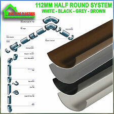 Plastic Round Gutter Guttering Down Pipe and fittings BRAND  NEW