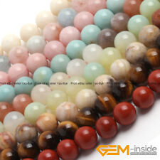 """Wholesale Lot Natural Stone Loose Spacer Round Beads 15"""" 6mm 8mm 10mm 12mm 14mm"""