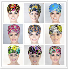 Cotton flower Pattern Printing Scrub Skull Cap Medical Surgical Surgery Hat/Cap