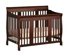 Baby Nursery Furniture 4-in-1 Convertible Crib Toddler Bed Rail Infant Real Wood