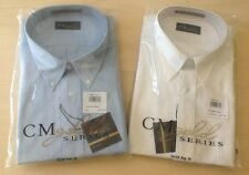 BRAND NEW CM (CASUAL MALE) GOLD SERIES LONG SLEEVE NECK RELAXER MENS DRESS SHIRT