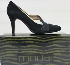 Moda Spana Lanie Black Dress Shoe Brand New In Box