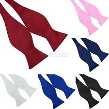 Vogue Mens Bowties Solid Color Plain Silk Self Tie Bow Ties Wedding Bow Ties B81