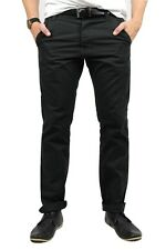 Mens Slim Fit Black Chinos SALE (+FREE GIFT, +FREE 1st CLASS DELIVERY! Trouser)