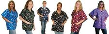 Patterned Scrub Grooming Top - S to XXL - 6 colors - Great Style Zippered front