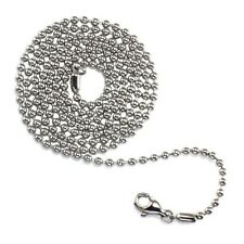 Stainless Steel Ball Bead Necklace Pendant Chains