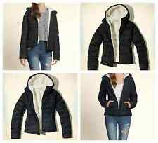 Nwt Hollister By Abercrombie Womens North Jetty Puffer Jacket, Navy and Black