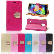 Luxury Bling Crystals Glitter Wallet Flip Leather Case Cover For LG G3 Salable