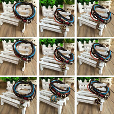 PU leather bracelet with Attack on Titan/Bleach/Naruto/One piece/Fairy tail